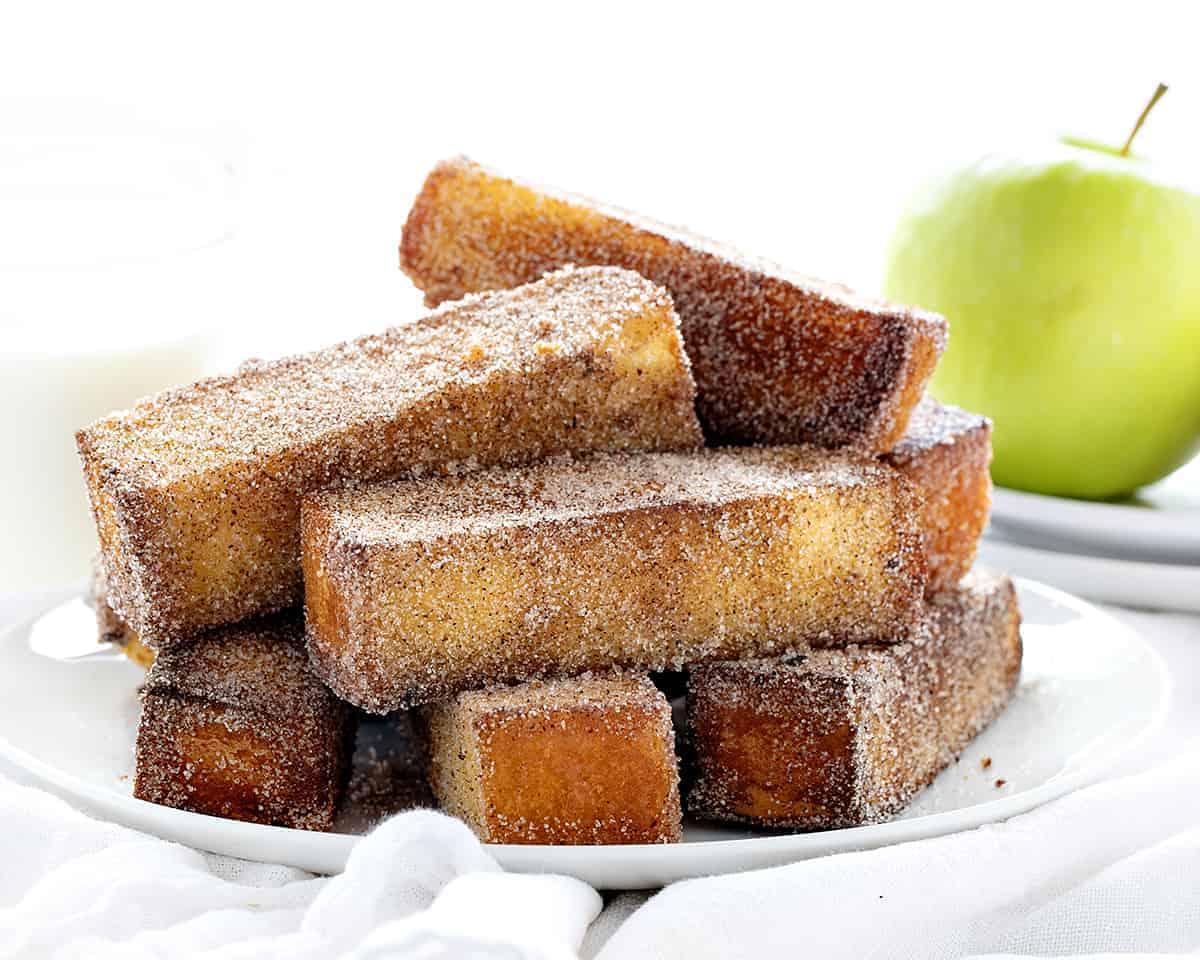 Fried Apple Spice Cake Sticks