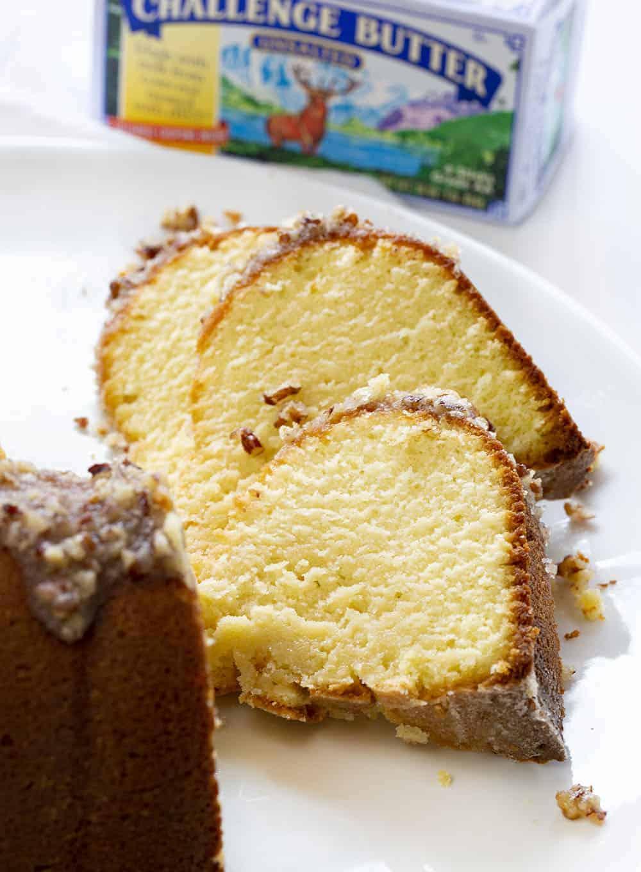 Slices of Kentucky Butter Crunch Cake