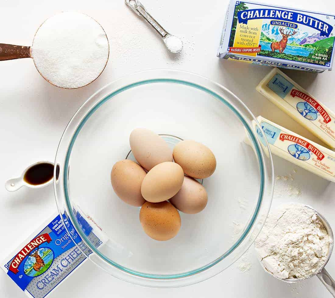 Ingredients for Kentucky Butter Crunch Cake