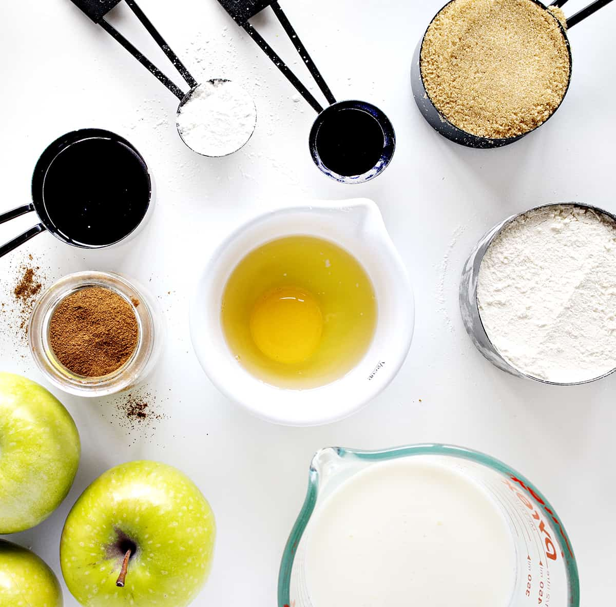 Ingredients for Spiced Apple Pancakes