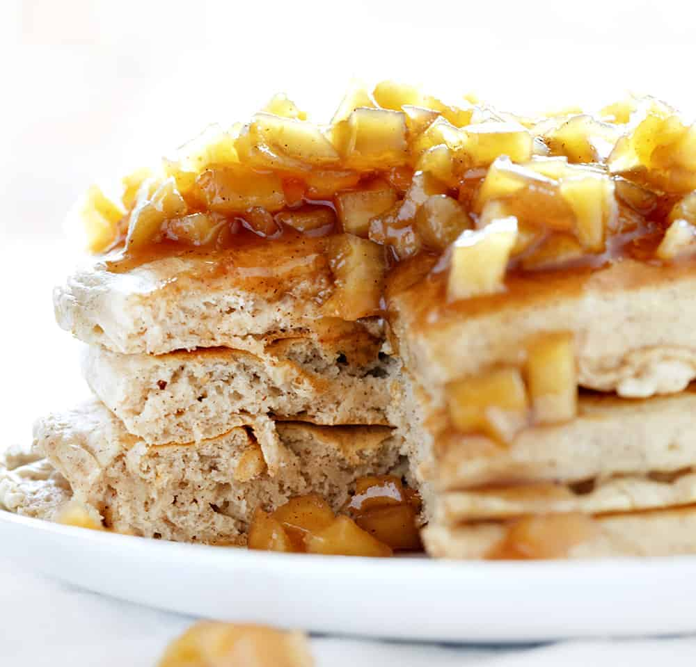 Cut into Spiced Apple Pancakes