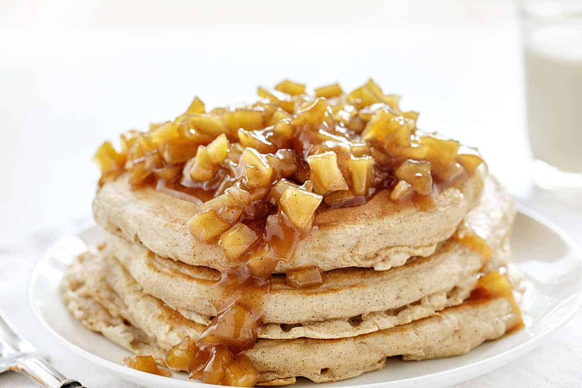 Stack of Spiced Apple Pancakes