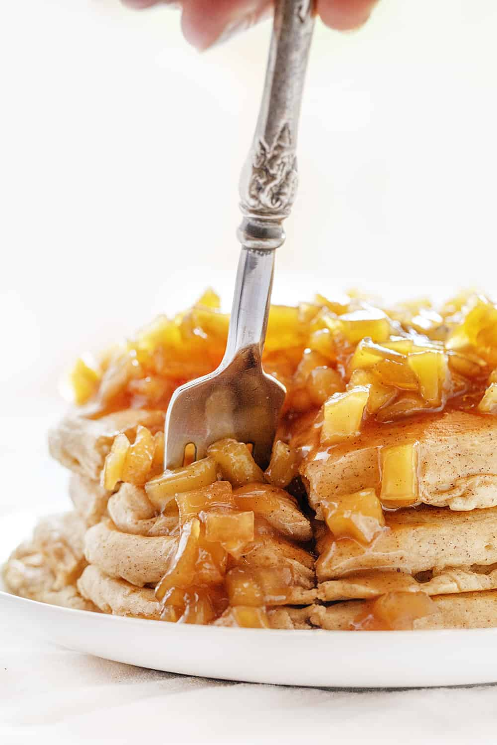 Forkful of Spiced Apple Pancakes
