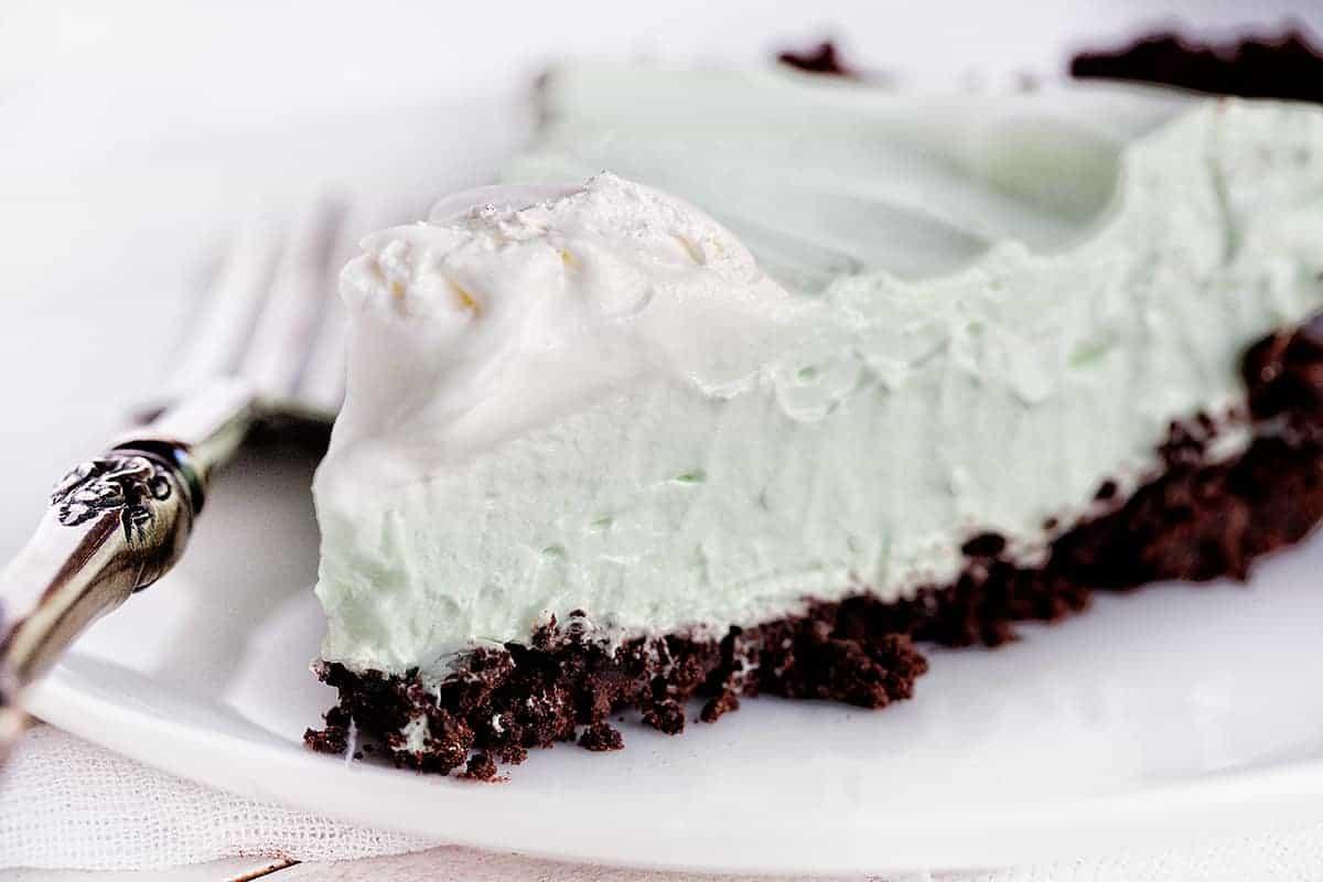 Slice of Peppermint Cream Pie