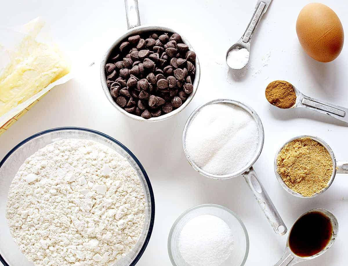 Ingredients for Pumpkin Spice Chocolate Chip Cookies