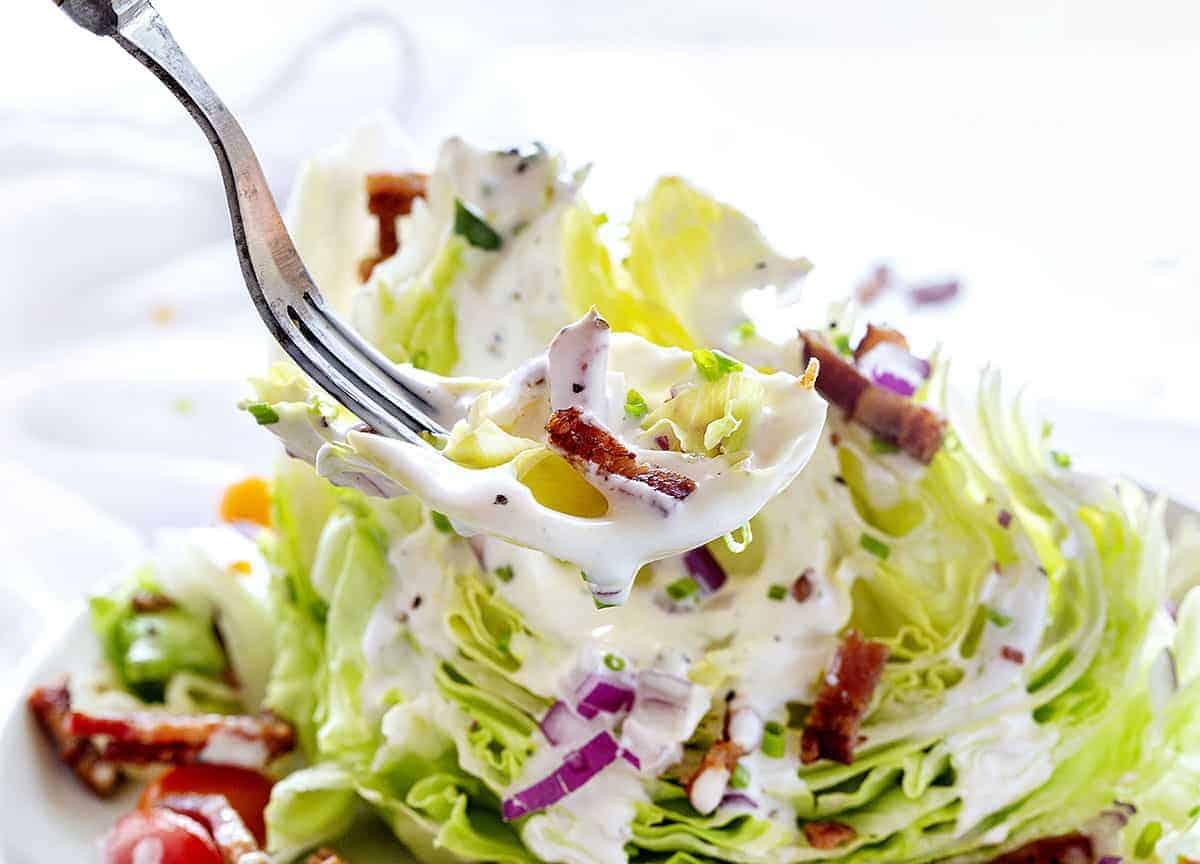 Bite of Wedge Salad