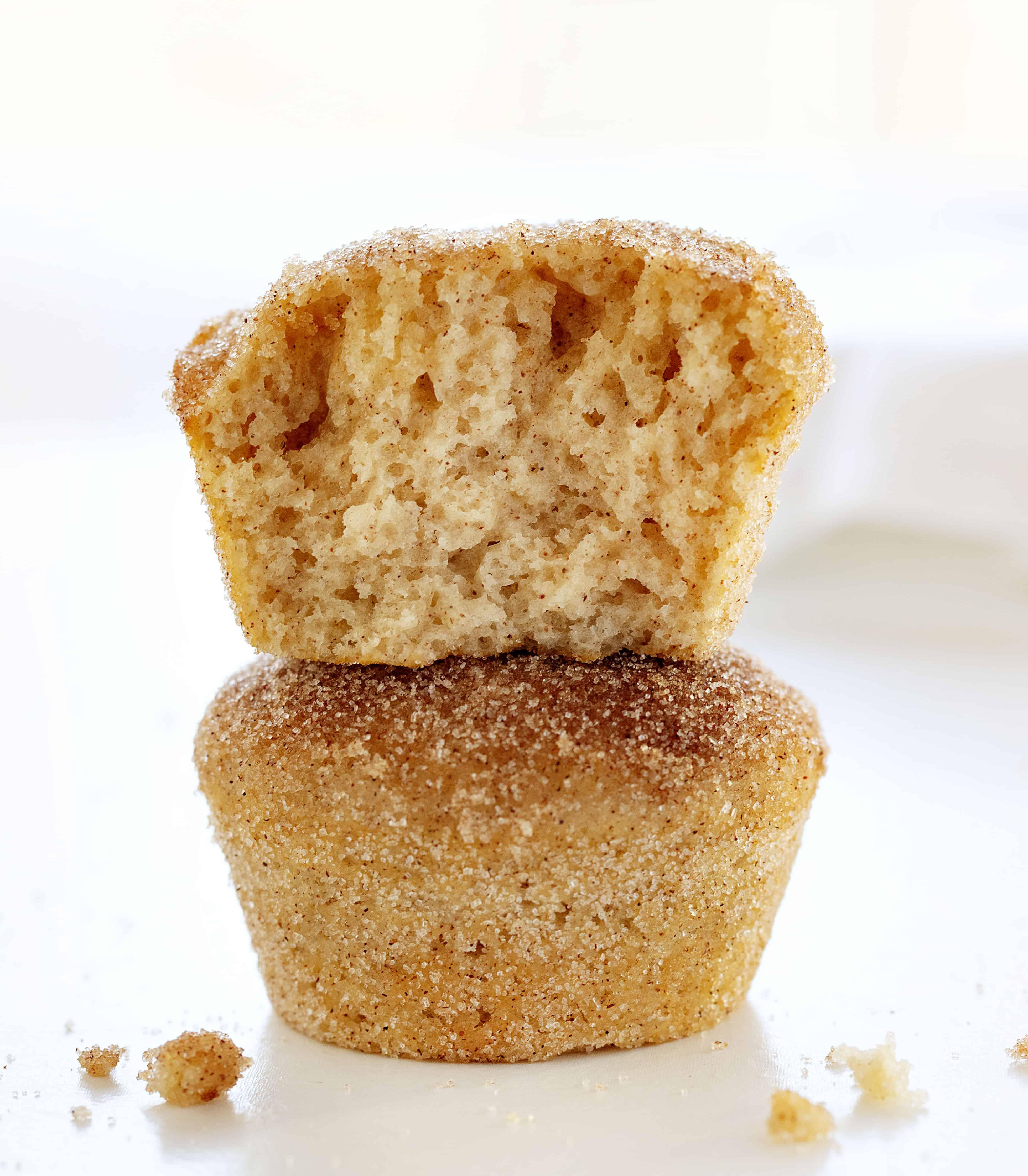 Cinnamon Sugar Donut Muffins Stacked