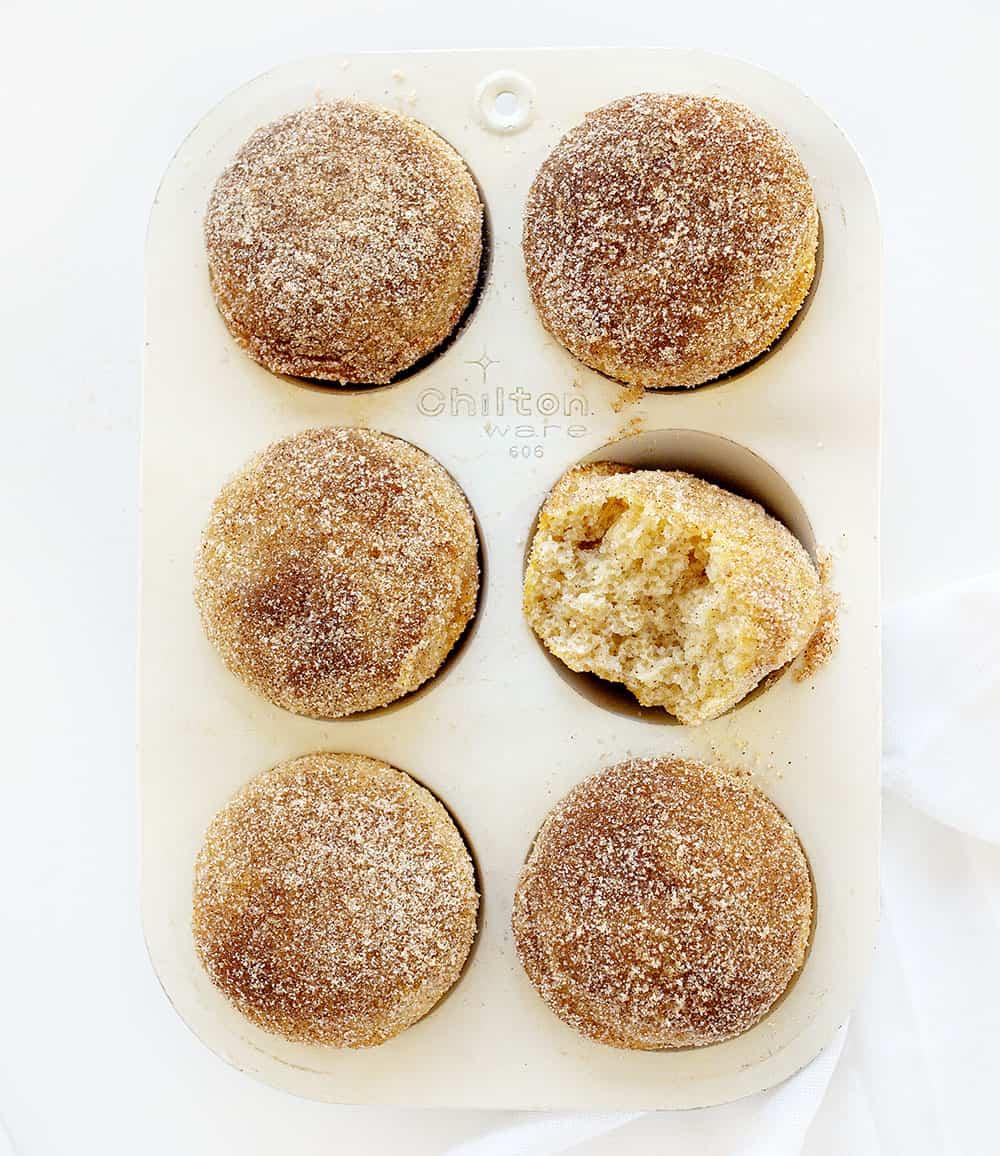 Cinnamon Sugar Donut Muffins in a Pan
