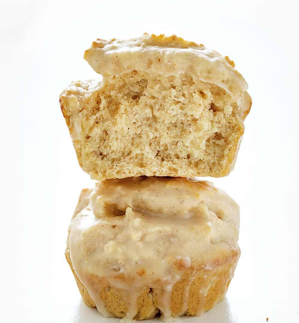 Stacked Pumpkin Spice Donut Muffins