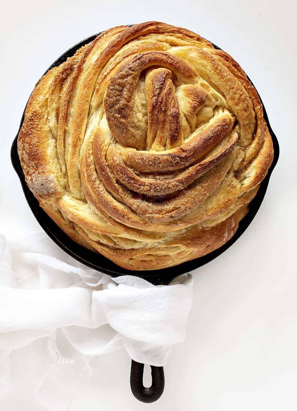 Orange Cardamom Breakfast Bread Twist without the Glaze