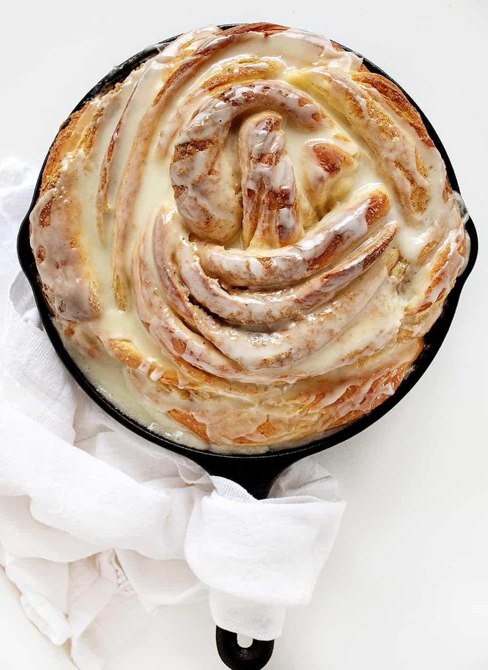 Orange Cardamom Breakfast Bread Twist in a Skillet