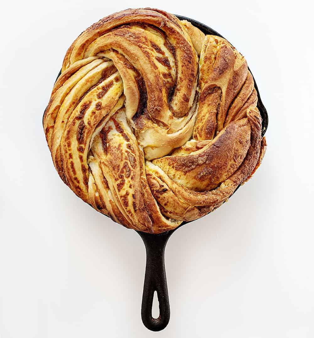 Baked Pumpkin Spice Bread Twist