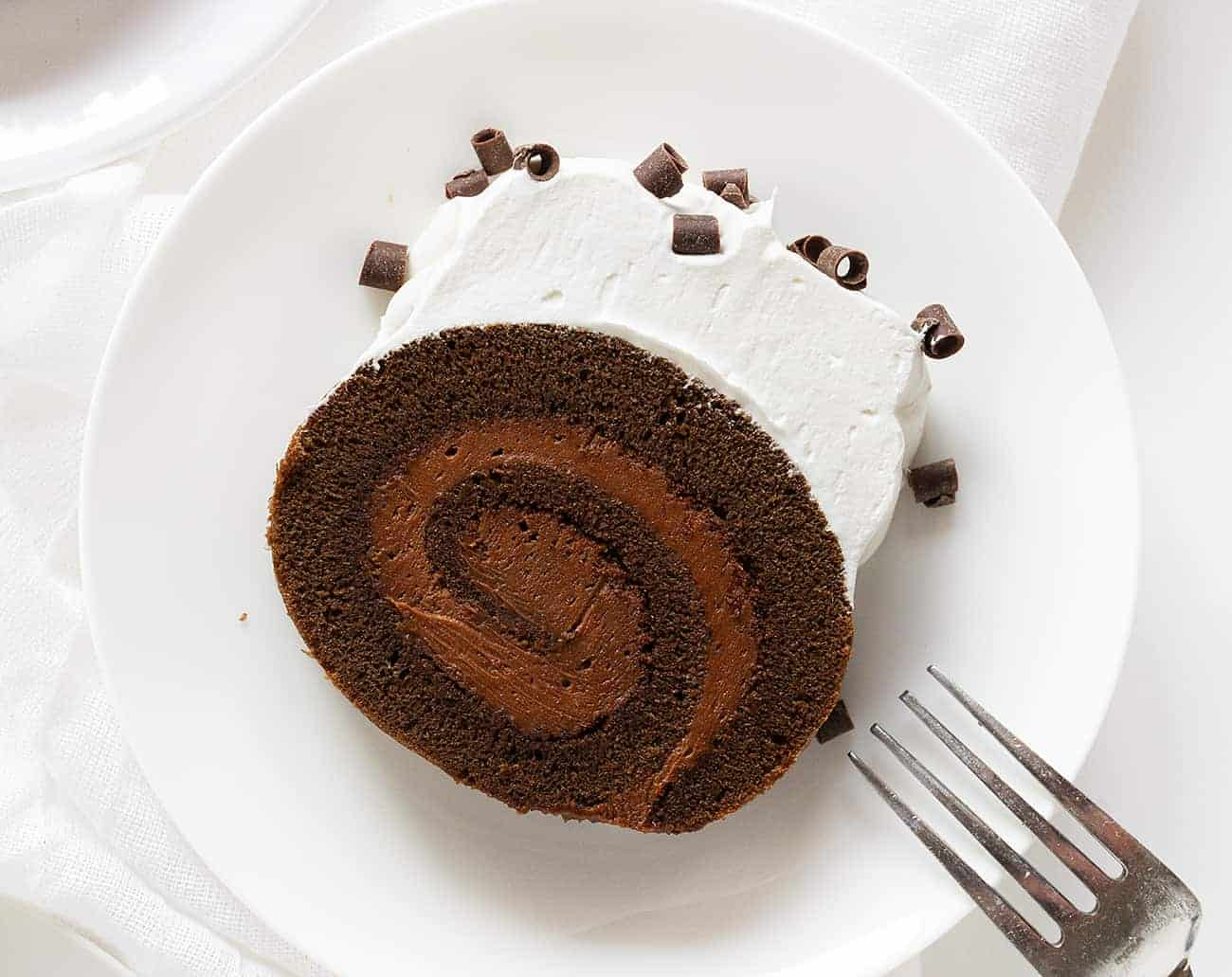 One Slice of French Silk Cake Roll
