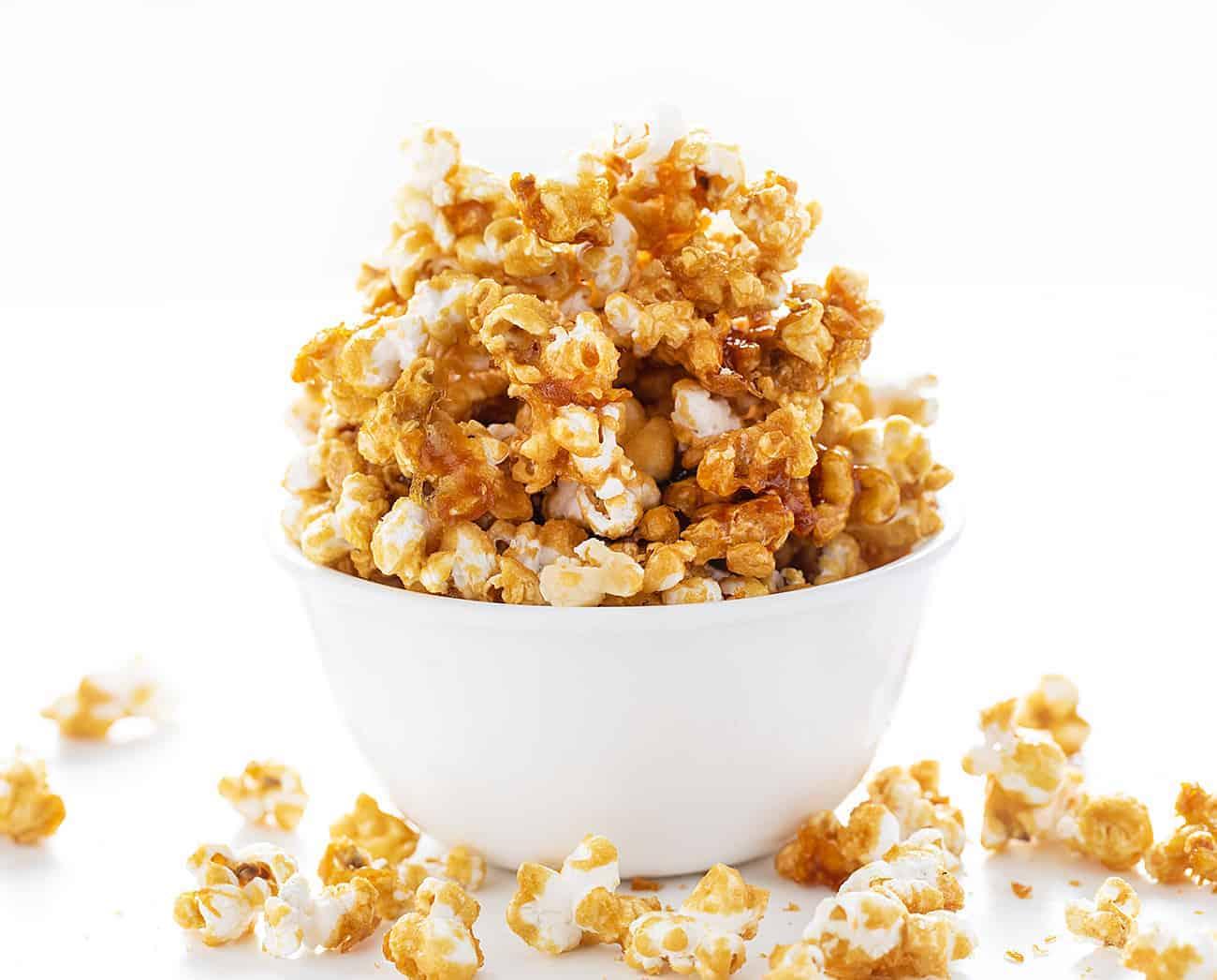 Bowl of Homemade Caramel Corn