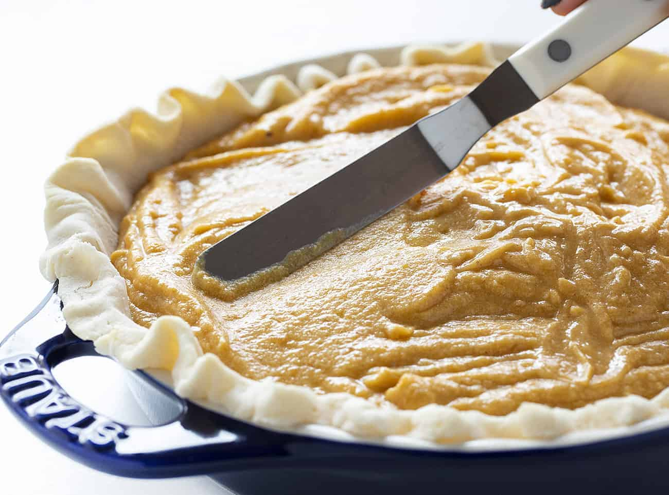 Smoothing out sweet potato pie filling