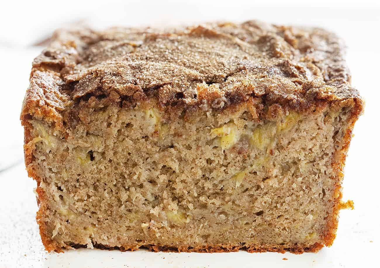 Loaf of Cinnamon Sugar Banana Bread