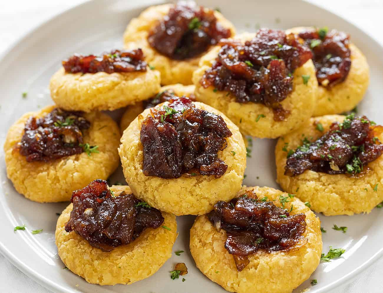 Cheesy Thumbprint Appetizers on a Plate