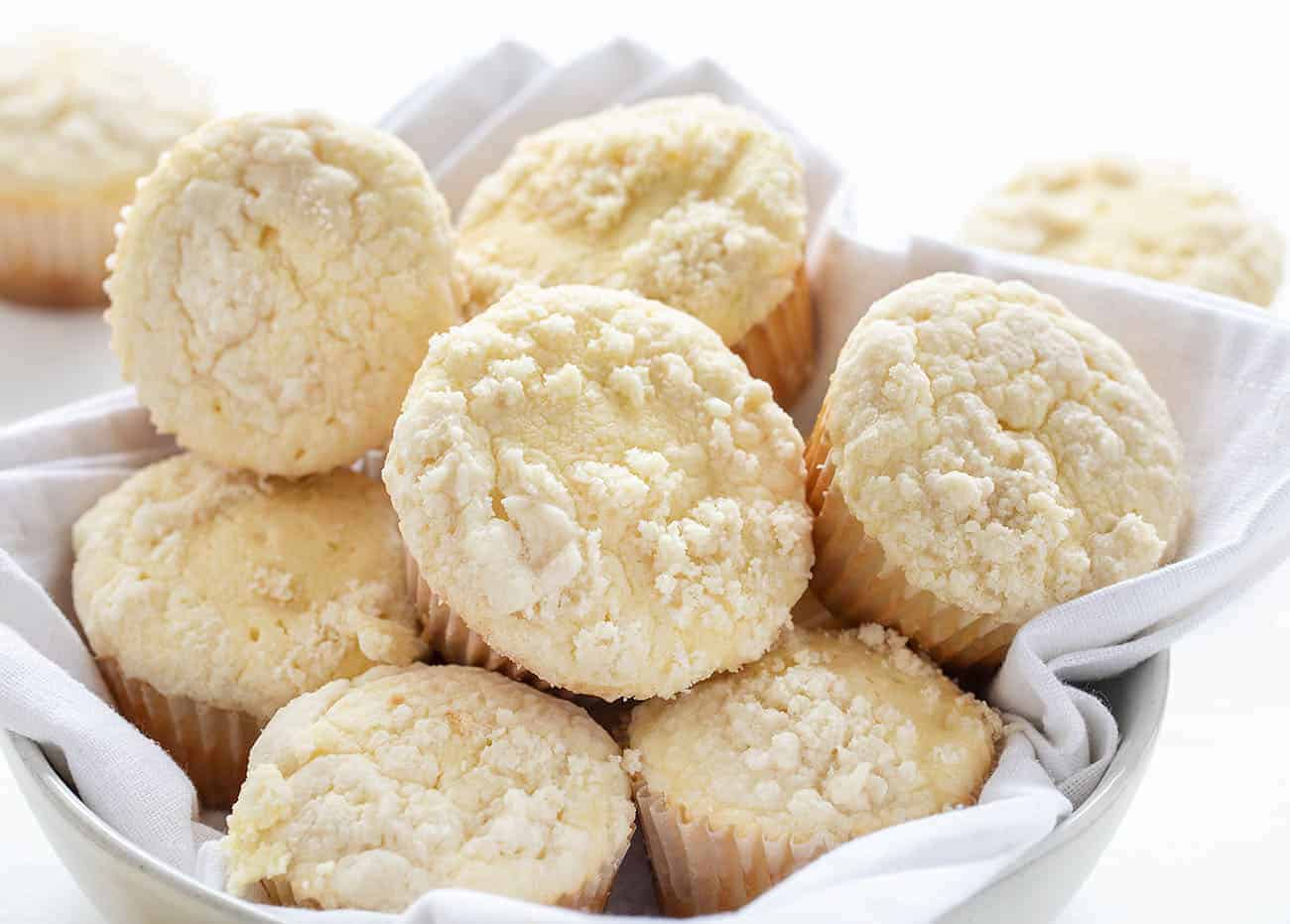 Basket of Cream Cheese Muffins
