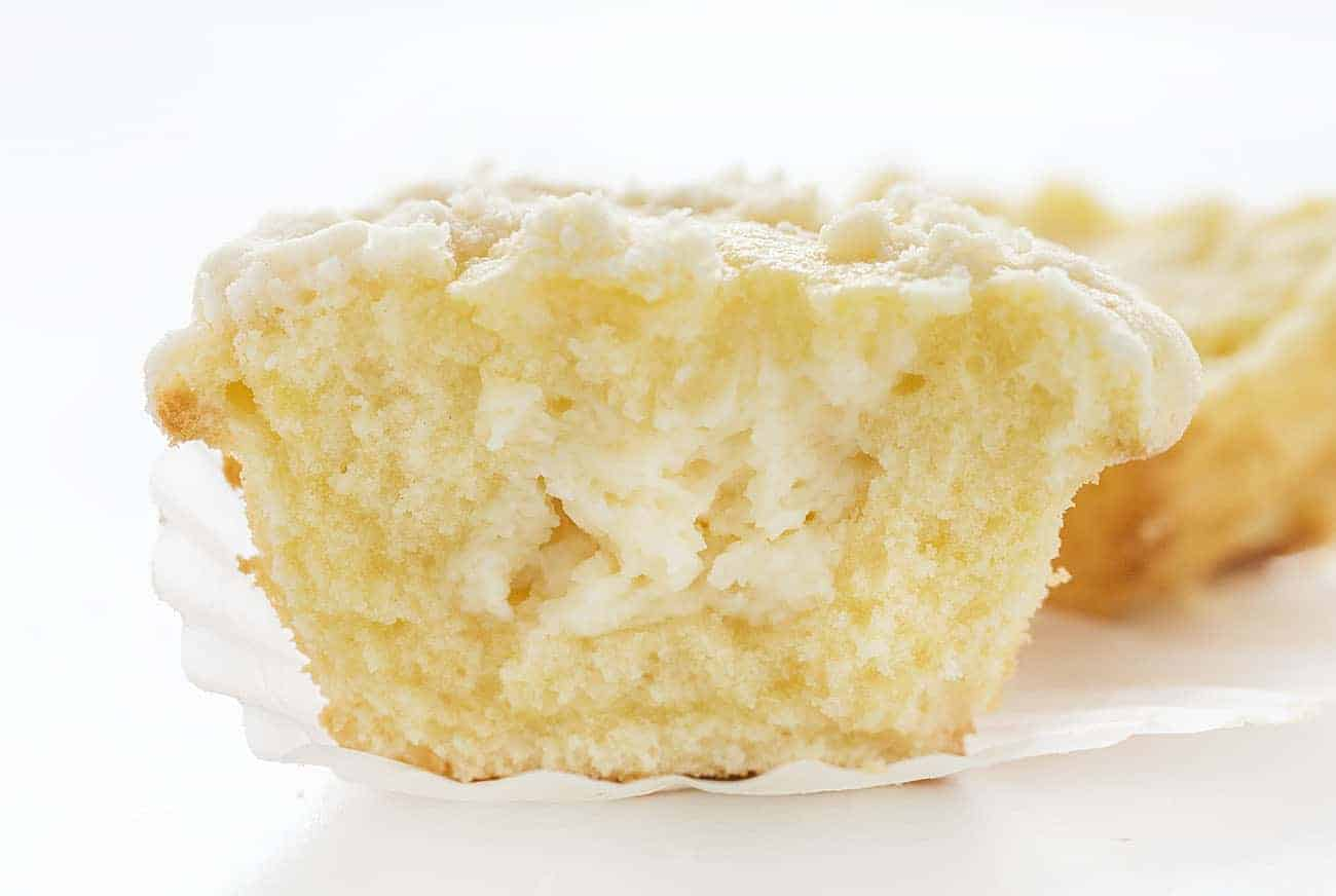 Inside of Cream Cheese Muffin