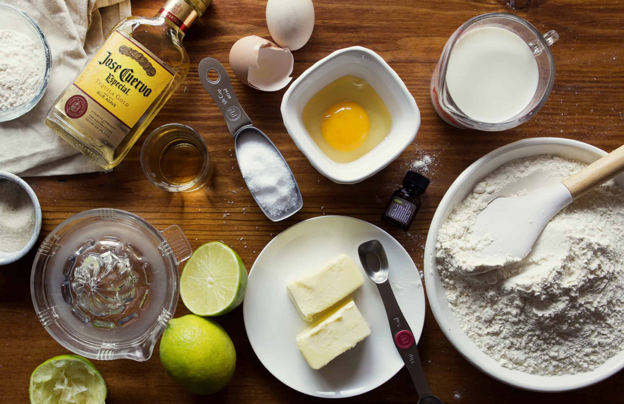 Ingredients for Margarita Cupcake