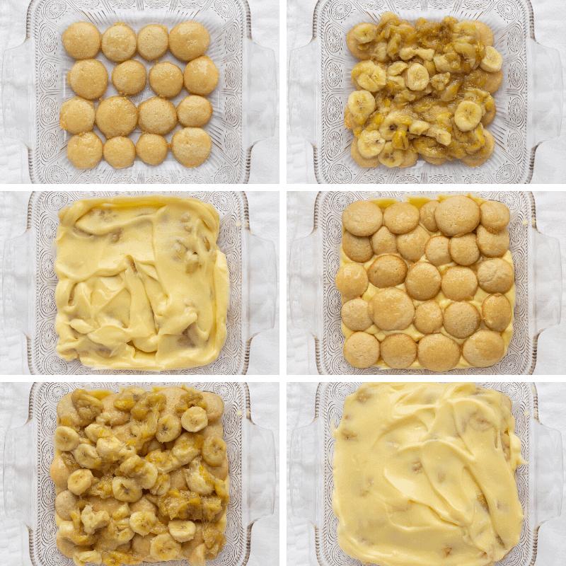 Layers for Ultimate Banana Pudding