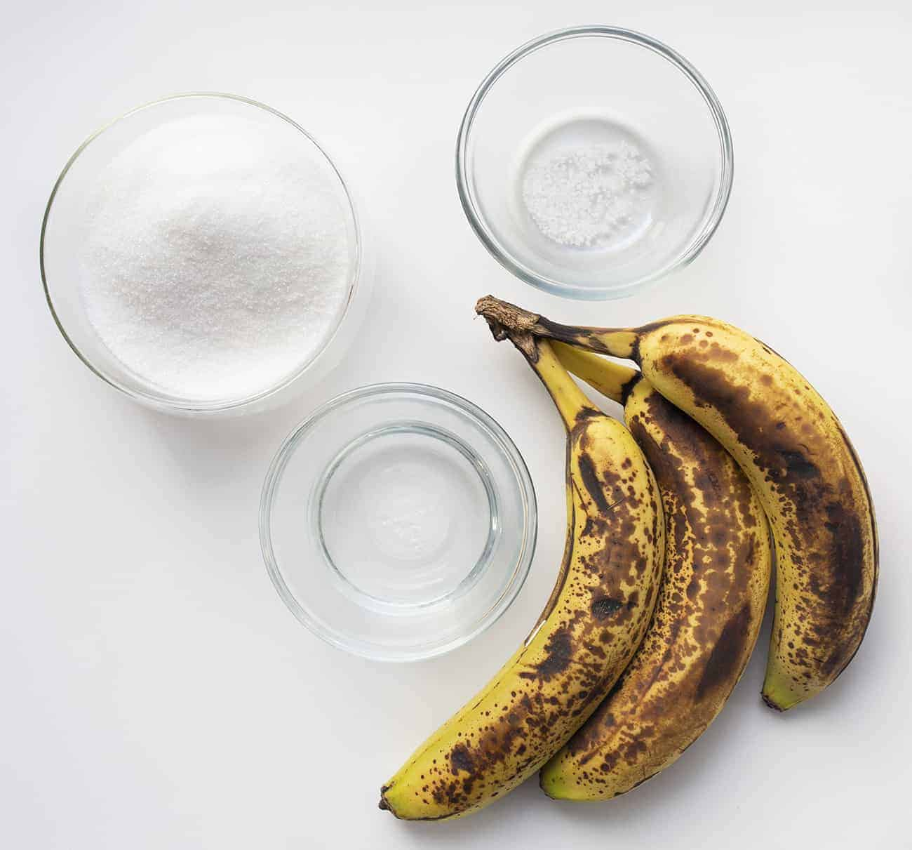 Ingredients for Banana Simple Syrup