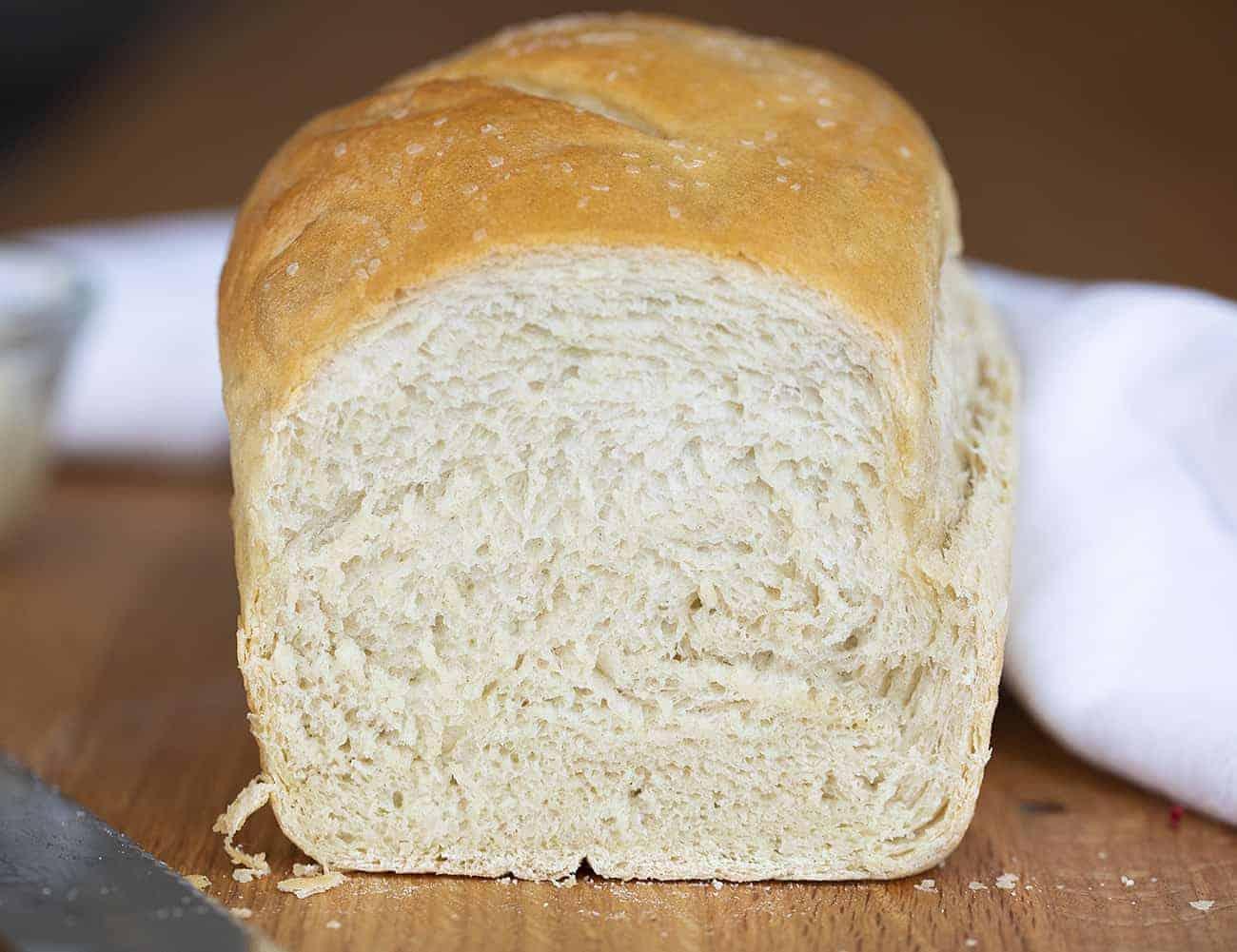 Cut into Simple White Bread