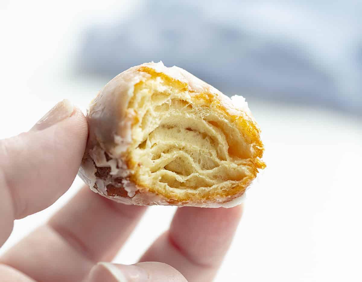 Bite Taken out of Glazed Mini Donut