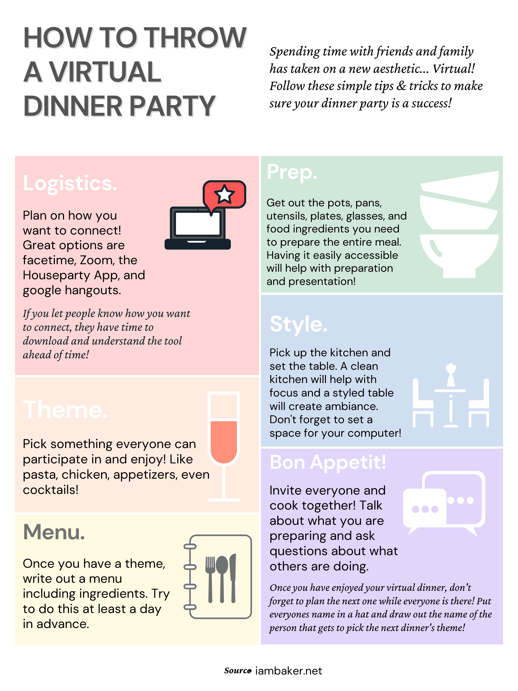 How to Throw a Virtual Dinner Party
