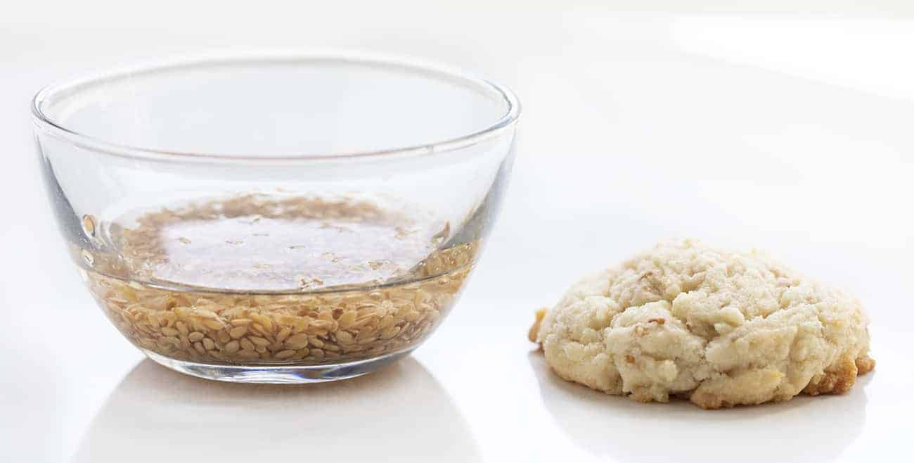 Flaxseed in Bowl Being Used as Egg Substitute