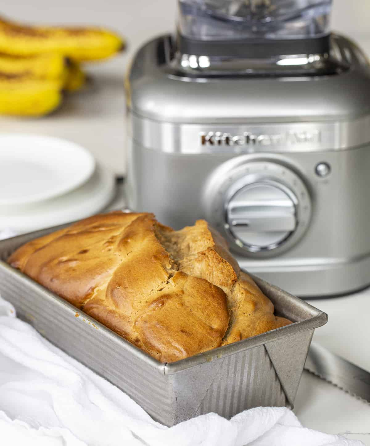 Peanut Butter Bread in Front of a Blender