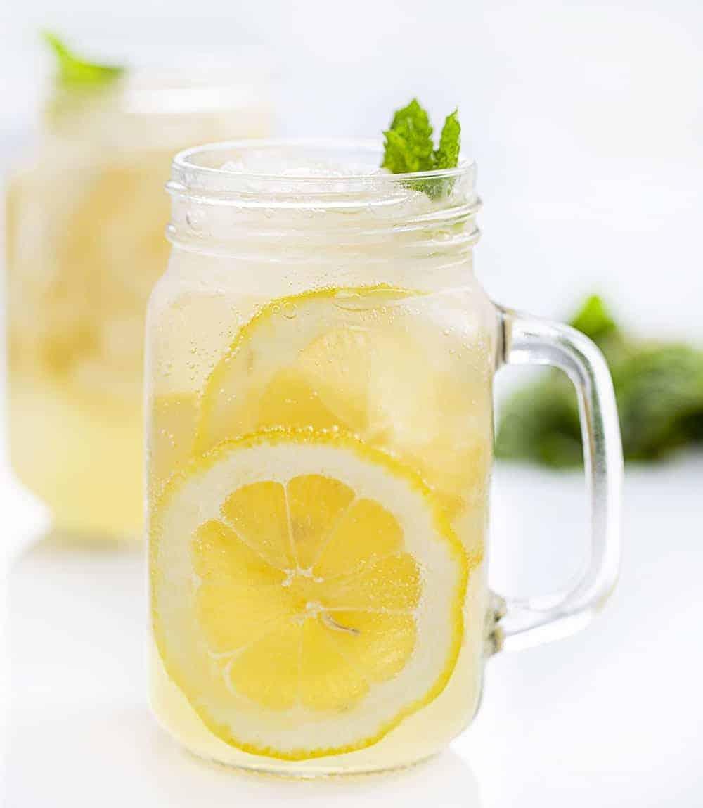 Cool Glass of Minnesota Spiked Lemonade with Lemons
