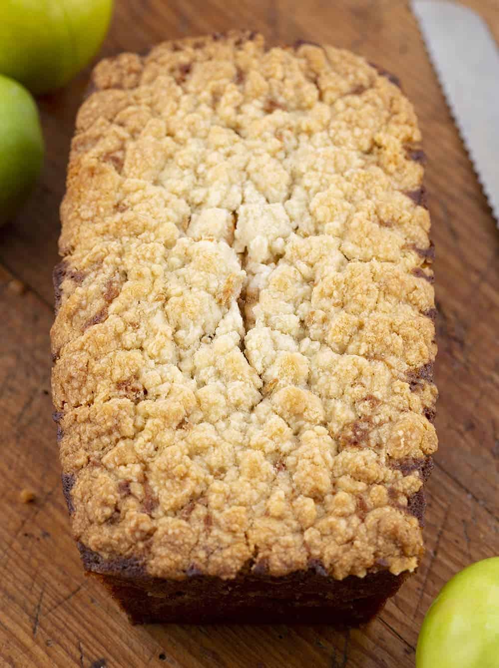 Apple Zucchini Bread Loaf on Cutting Board