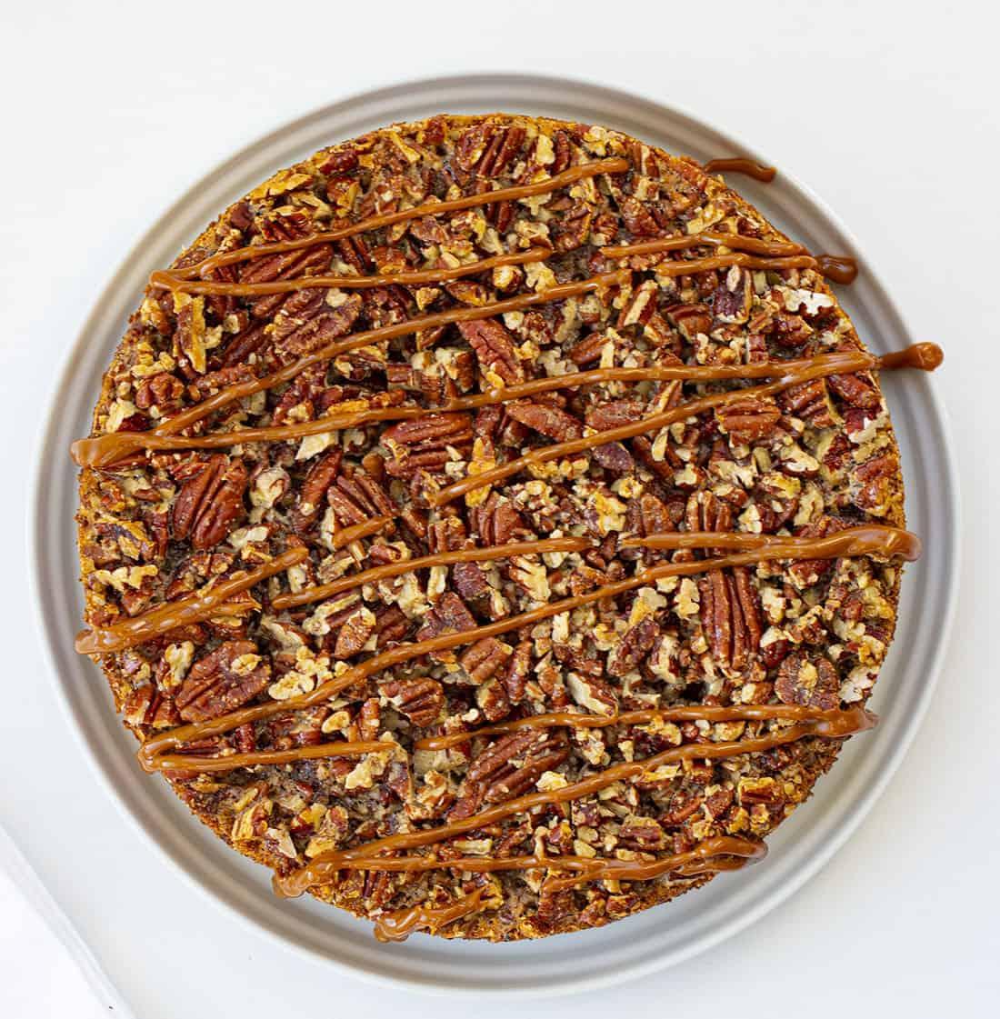 Overhead Image of Dulce de Leche Pecan Pie