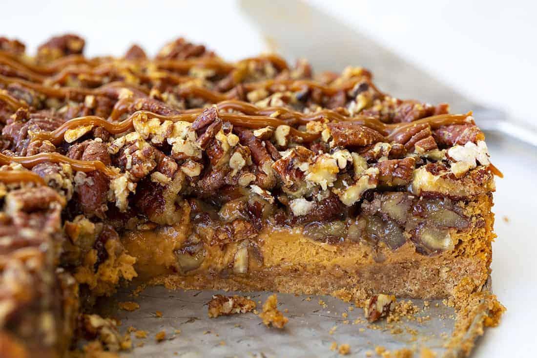 Inside of Dulce de Leche Pecan Pie