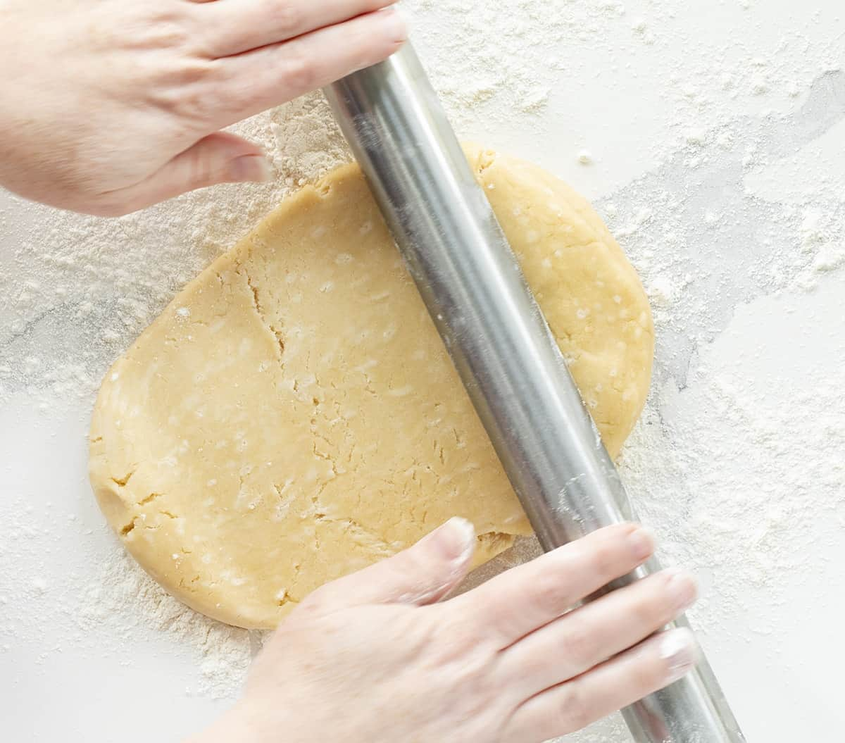 Rolling out Homemade Pie Crust