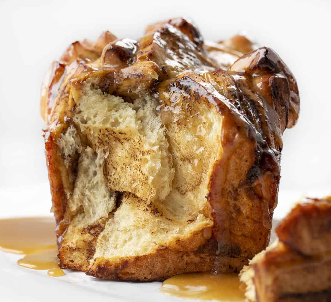 Apple Butter Pull Apart Bread Showing Inside