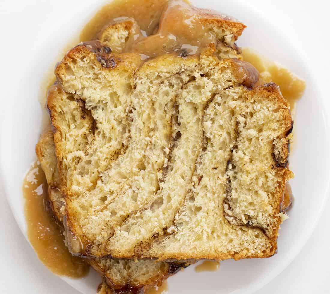 Sliced Piece of Apple Pull Apart Bread