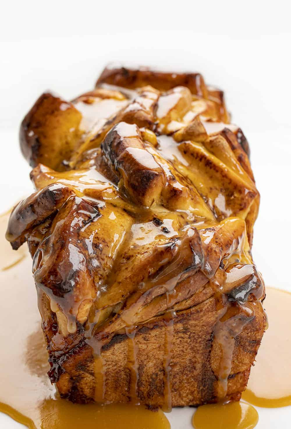 Showing Top of Apple Butter Pull Apart Bread