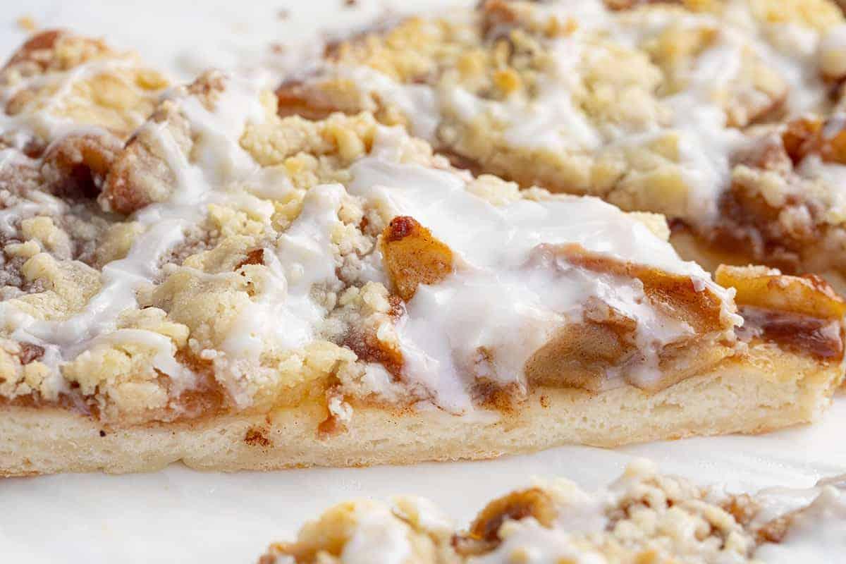 Very Close Up of Apple Cactus Bread - Apple Dessert Pizza