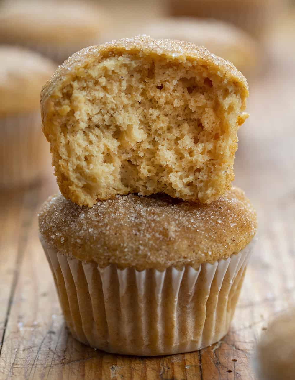 Stacked Apple Cider Muffins
