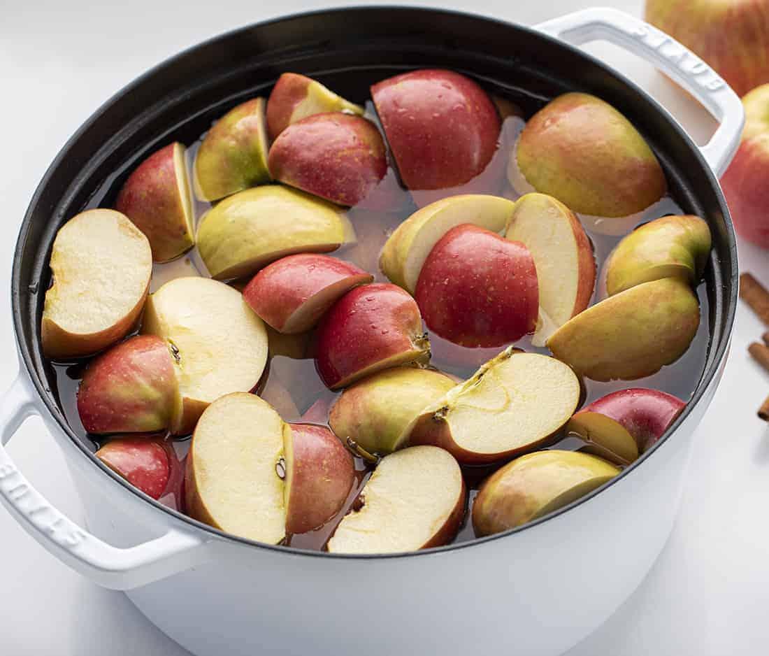Pot of Apples for Apple Cider