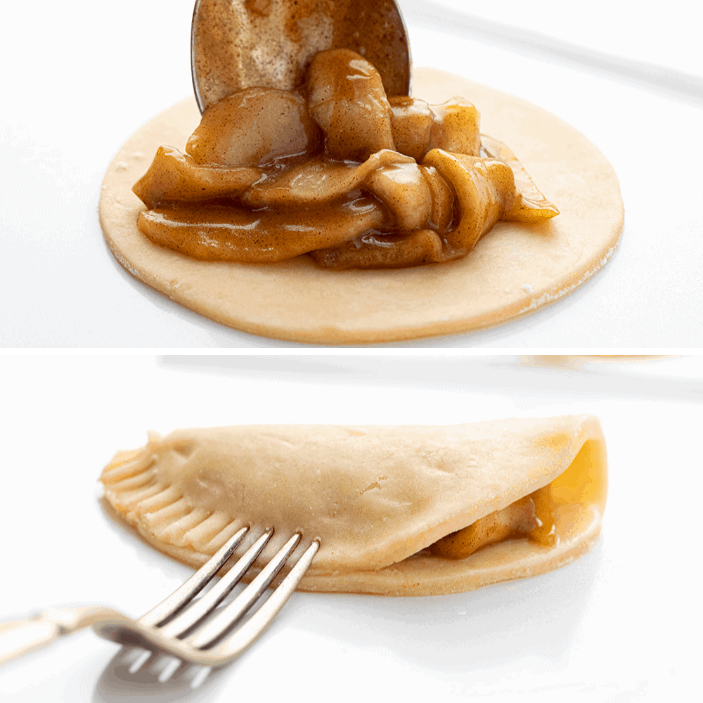 Process of Filling Apple Hand Pies