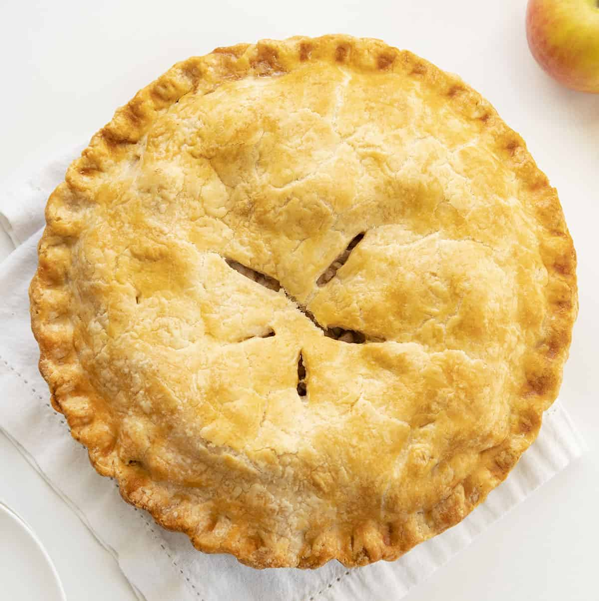 Classic Apple Pie from Overhead