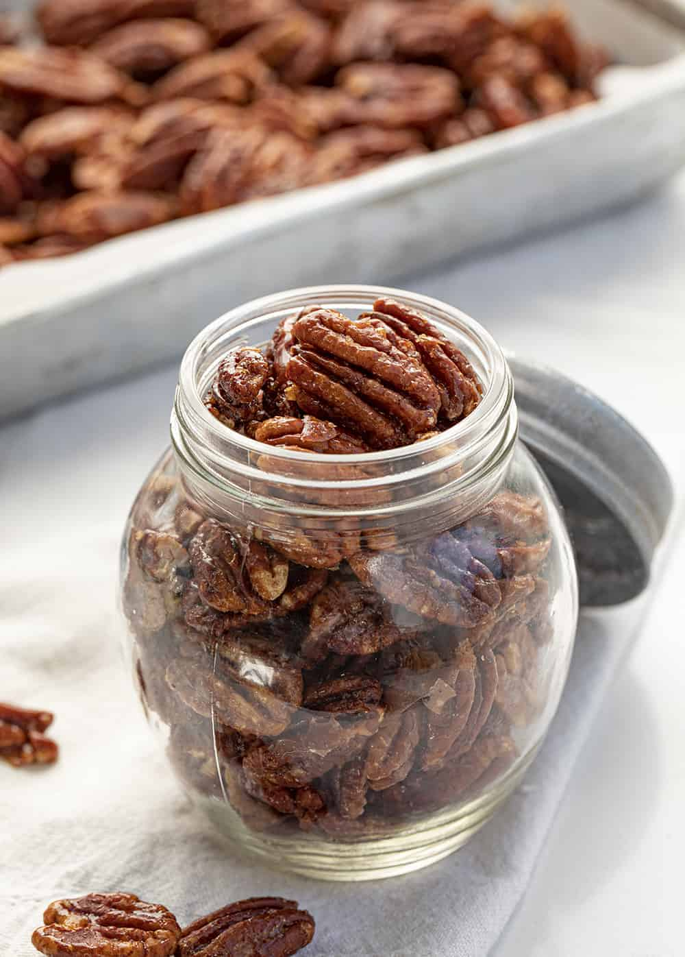Candied Pecans in Jar