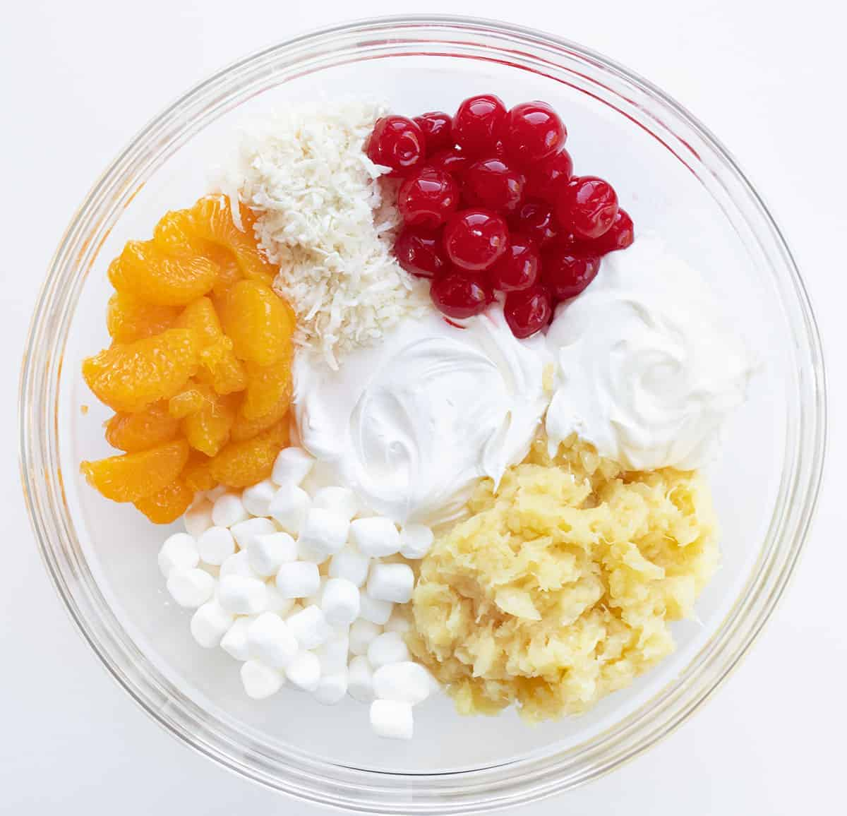 Raw Ingredient for Ambrosia Salad