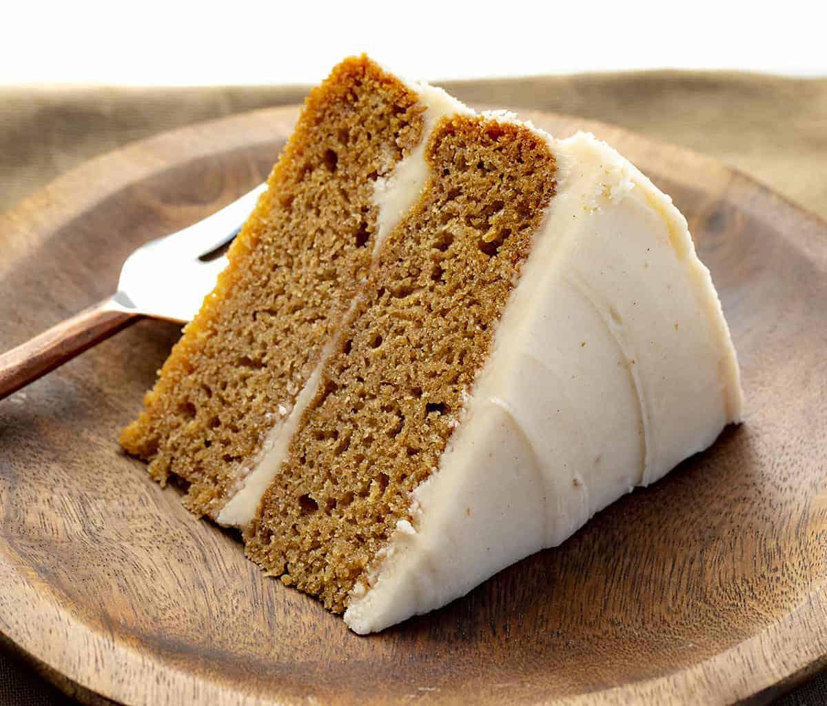 Apple Butter Cake Slice on Plate