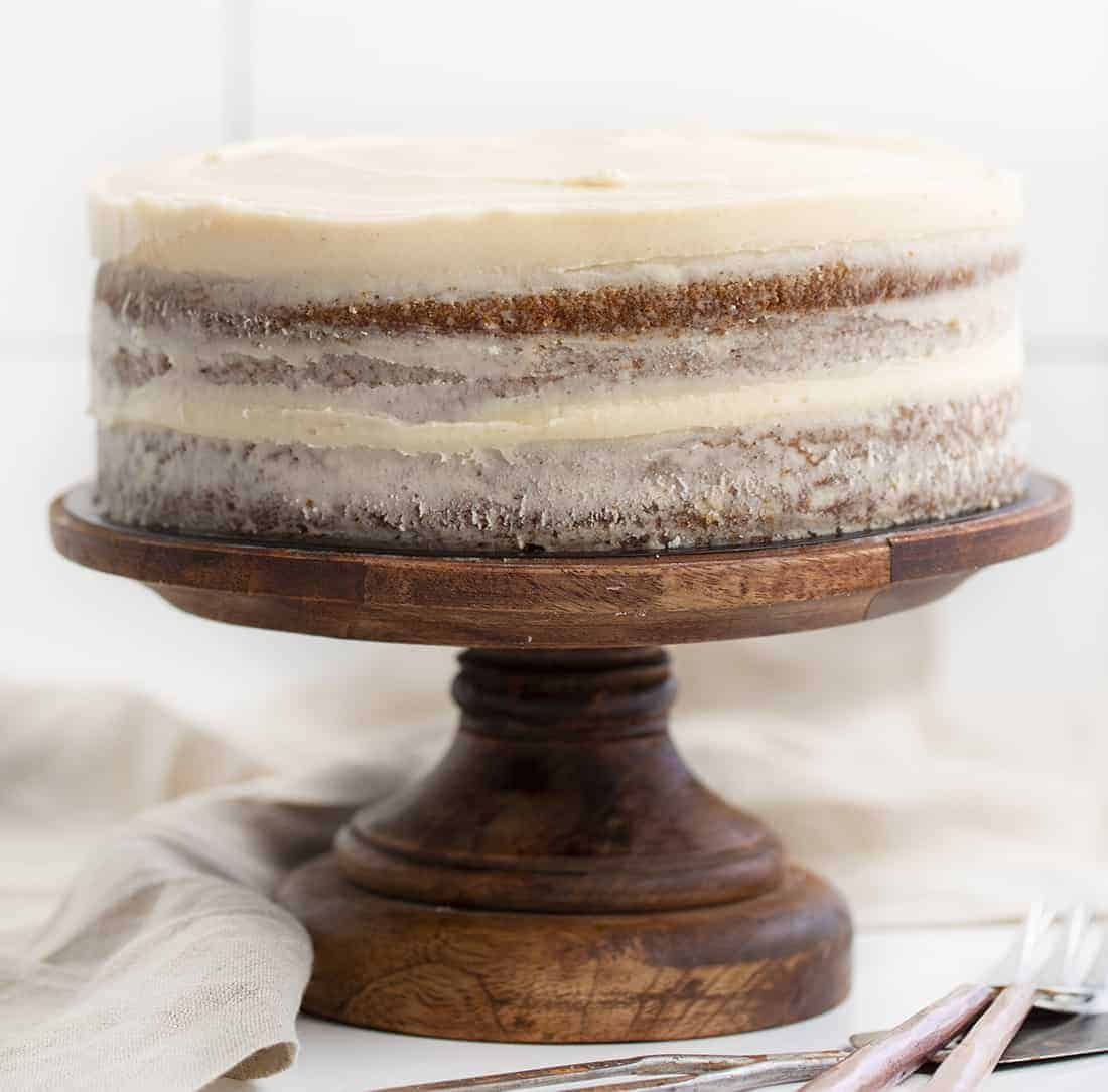 Apple Butter Cake on Cake Stand
