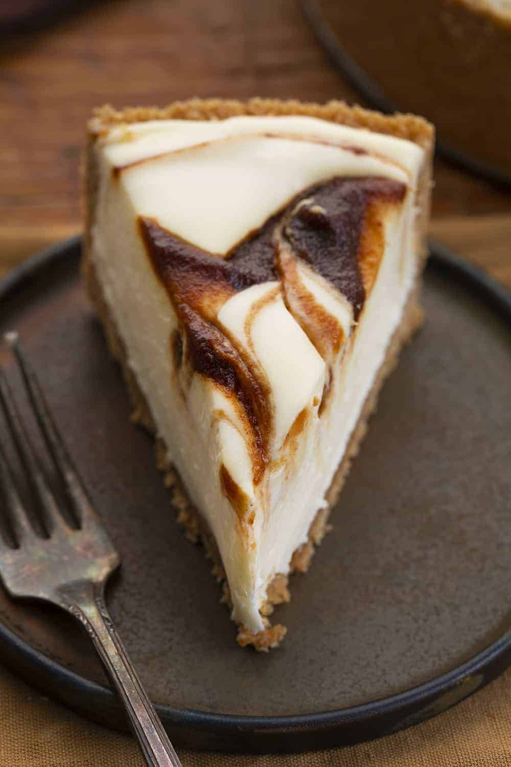 Slice of Apple Butter Cheesecake