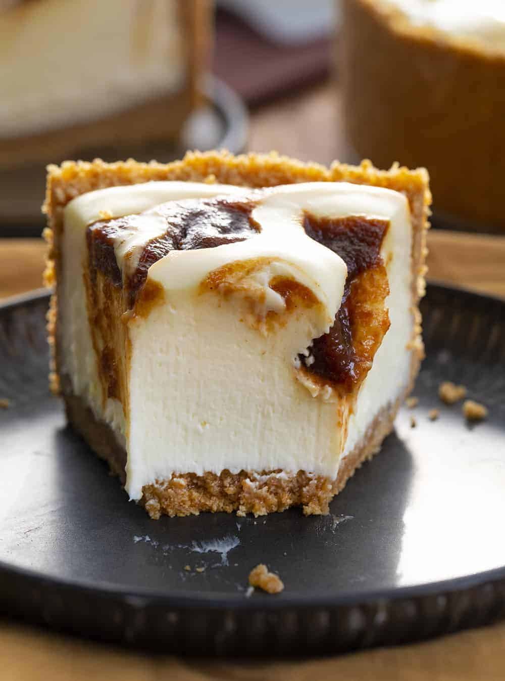 Inside of Apple Butter Cheesecake